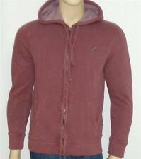 American Eagle Outfitters Mens Muted Burgundy Hoodie Sweatshirt Jacket New NWT