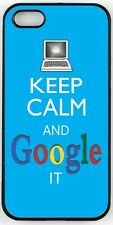 Rikki Knight Keep Calm And Google It -Sky Blue Color Case for iPhone 4/4s, 5/5s,