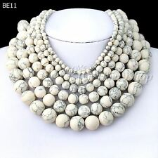40cm/16inch White Synthetic Turquoise Wholesale Beads String