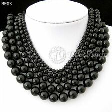 40cm/16inch Black Synthetic Turquoise Wholesale Beads String