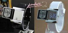 Black & white Attack on Titan cosplay watch /Electronic watches/LED watches +BOX