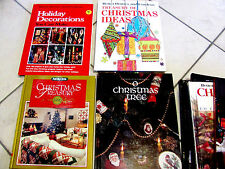 Christmas, Holiday Crafts,Crochet X-stitch  Sewing  Hard Cover Books Your Choice