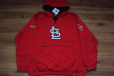 ST. LOUIS CARDINALS NEW MLB MAJESTIC TRUE LEADER HOODED SWEATSHIRT