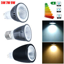 4/10x 5W/7W/9W GU10 MR16 E27 COB LED Bulbs Day / Warm White Spot Light Down Lamp