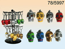 Day Of The Dead Skull Keyring - Mexican Tattoo - New Assorted Colours