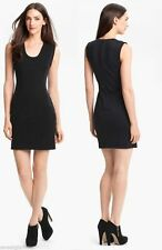 $425 Diane von Furstenberg DVF Carmelle Jersey Knit Suiting Black Dress 10