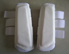 Horse Arena or Work & Exercise Boots More Protection All WHITE  AUSTRALIAN MADE