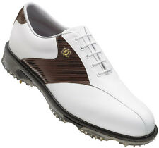 FootJoy Dryjoys Tour Golf Shoes Mens Closeout White/Mahogany 53681 New