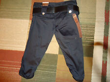 Crest Girls Juniors Youth Belted Crop Stretch Pants Capri Black MSRP $25 NWT