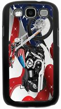 Rikki Knight American Flag Harley Davidson Case for Samsung Galaxy S3 S4