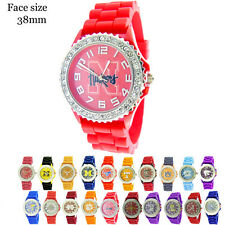 Ladies University Licensed Silicone CZ Rubber Band Fashion Watch USA !! Sale
