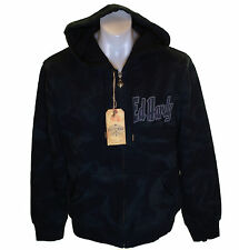 Bnwt Mens Authentic Ed Hardy Specialty Zipped Panther Hoodie Black New