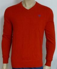 American Eagle Outfitters AEO Mens Red Athletic Fit Solid V-Neck Sweater New NWT