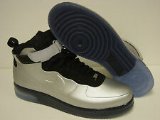 NEW Mens NIKE Air Force 1 Foamposite 415419 002 Metallic Silver Sneakers Shoes