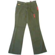 Tommy Hilfiger Olive Green Stretch Denim Jeans Womans Junior Sizes NWT