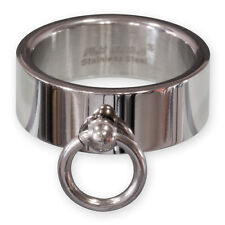 RING OF O STAINLESS STEEL SLAVE RING BDSM gothic fetish sm master BD domina top