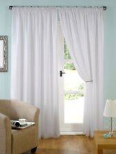 Beautiful Home Luxury Plain White Lined Voile Pencil Pleat Tape Curtains