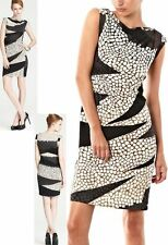 $375 Diane Von Furstenberg DVF Mattie Crackle Landscape Stretch Silk Dress 8