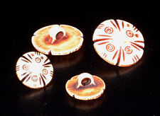 """VTG buttons SET * CARVED IVORY LOOK * choice of 5/8""""D or 3/4""""D   sold x 4"""