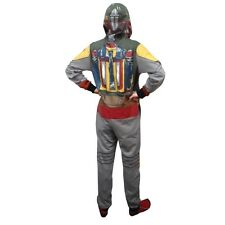 Star Wars Boba Fett Costume Licensed Adult One Piece Hooded Pajama S-XXL