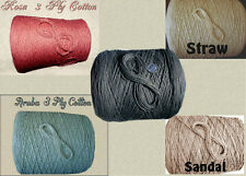 MORE Soft 3 Ply 100% Cotton Yarn *Multi-Choices* Knit Crochet Weave Dyeing