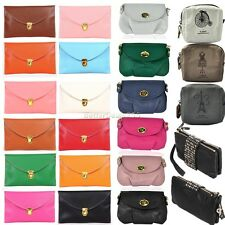 New Fashion Women's Chain Envelope Purse Clutch Synthetic Leather Handbag B20E