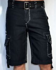 Affliction Black Premium Men's - LIQUID SKY Cargo Shorts - NEW - WS051 - Black