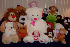 LARGE ASSORTMENT OF PLUSH ANIMALS ** YOU PICK ** NEW ** BEARS ** DOGS ** FROGS *