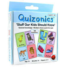 Zoobookoo Quizonics General Knowledge Quiz For Kids- Level 1 or 2 (One Supplied)