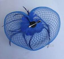 1 x New Mesh Wedding Lady Girl Hair Accessory Clip Fascinator Feather