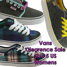 SIZE 5 US WOMENS/LADIES VANS CLEARANCE SHOES/SNEAKERS/CASUAL/SKATE/FLATS/LACE UP