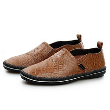 2014 Men's Leather with crocodile embossed Sneakers Comfort Flats Loafers shoes