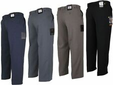 Mens Farah Trousers Classic Regular Fit Flat Front Slant Pocket