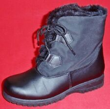 NEW Women's TOTES KAY Black Winter/Rain Faux Fur Insulated Waterproof Boots