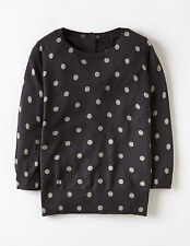 Boden eBay Brand New Button Back Jumper Soot Grey Spots Cotton Cashmere Blend