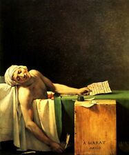 DEATH OF MARAT MURDERED FRENCH REVOLUTIONARY LEADER BY JACQUES LOUIS DAVID REPRO