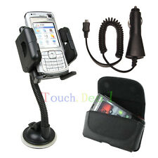 Car Mount Holder + Car Charger + Leather Case FOR Samsung phones Latest Model UK