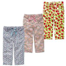 Mini Boden Girl's Brand New Printed Baggies Cropped Trouser Summer Floral Cotton