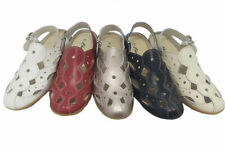Ladies Leather Shoes Cherry Akshin Leather Covered Toe Sling Back Shoe Size 5-10