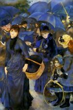 THE UMBRELLAS FRENCH BLUE 1883 BY PIERRE AUGUSTE RENOIR REPRO