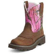 10012827 Ariat Women's Fatbaby Western Boot Tanned Copper/Pink Camo NEW in BOX