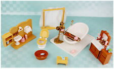 Playset Bath Room/Bedroom/Dining Table Hard Furnitures for Sylvanian Families