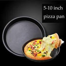 "5"" 6"" 7"" 8"" 9"" 10"" Round Pizza Pan Oven Cooking Non Stick Bakeware Tray Tin New"