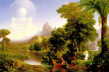 THE VOYAGE OF LIFE YOUTH STAGES OF HUMAN LIFE PAINTING BY THOMAS COLE REPRO