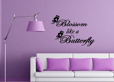 Blossom Butterfly Vinyl Wall Kids Bedroom Girls designs inspirational quotes