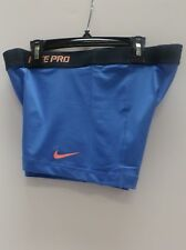 """New Nike Womens Dri Fit """"Pro Fitted"""" 2.5""""  Shorts Blue 458653-402/519240-402"""