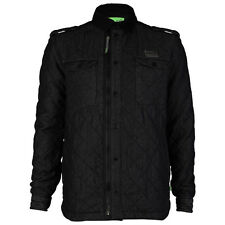 NEW MENS GIO GOI SWOT BLACK QUILTED PADDED COLLARED WINTER JACKET COAT SIZE S-XL