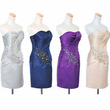 NEW Appliqued Satin Knee Length Mother of the Bride Groom Dress w/ Wrap in Stock