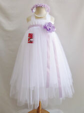 White purple lapis wisteria regency plum yellow tutu princess flower girl dress