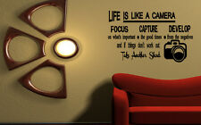 Life is like a camera Vinyl Wall Lettering Quotes Sayings Decor Sticker